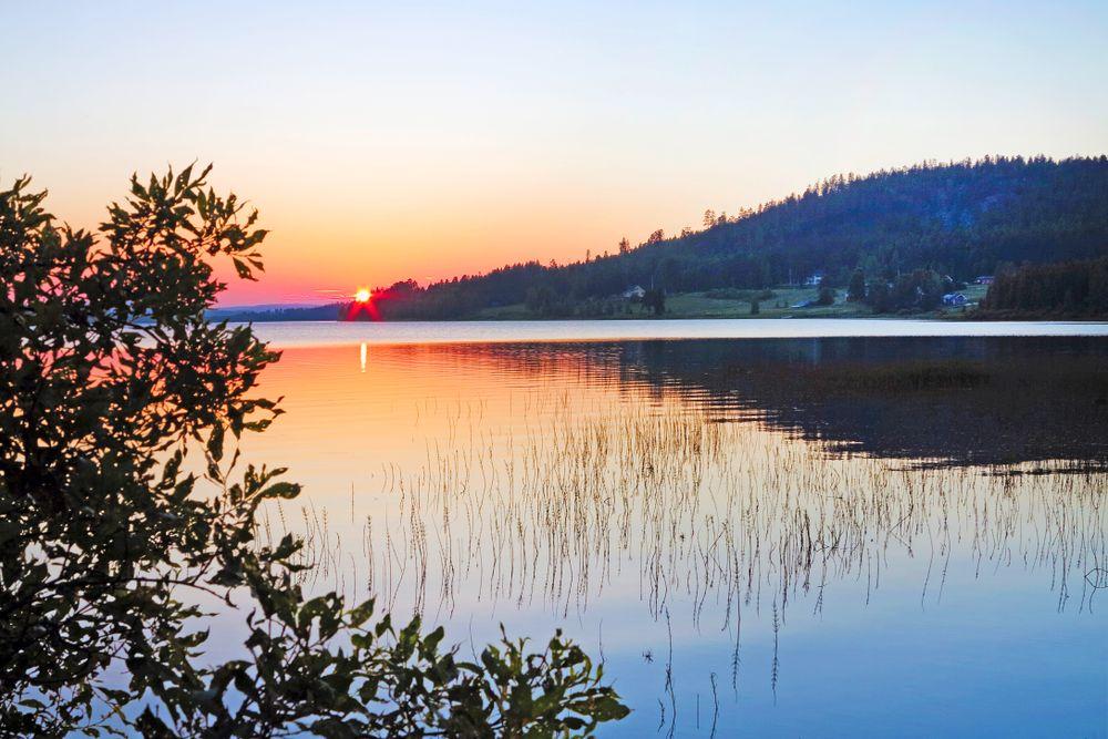 Mitternachtssonne, Schwedisch Lappland