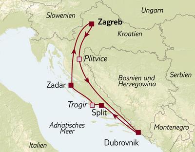 Busreise Kroatien kompakt
