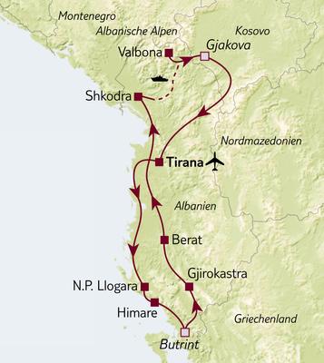 Aktivreise Albanien - Land der Kontraste