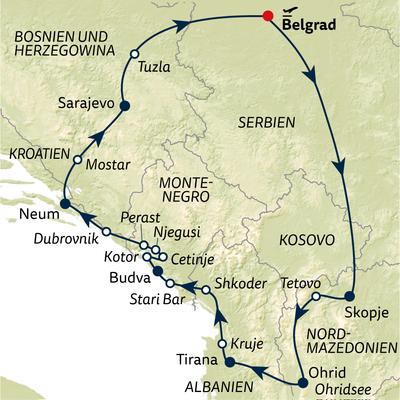 Busreise Große Balkanrundreise