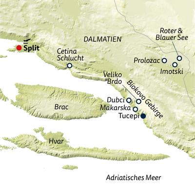 Wanderreise Dalmatien gemütlich erwandern