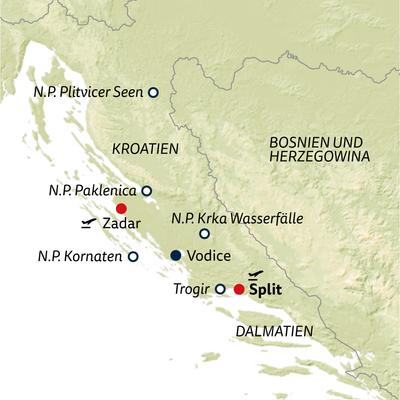 Bus-/Standortreise Kroatiens Grüne Schätze