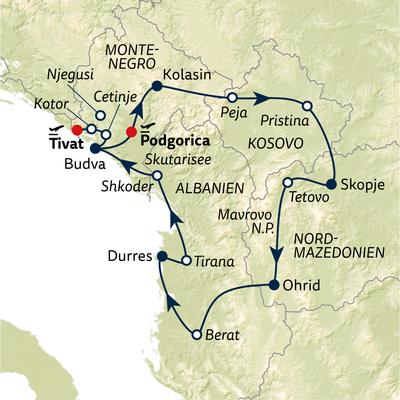 Busreise Perlen des südlichen Balkans