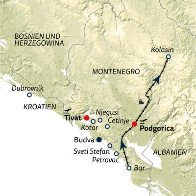 Bus-/Standortreise Montenegro & Dubrovnik 2022