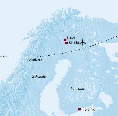 Aktivreise Kurzreise Finnisch Lappland