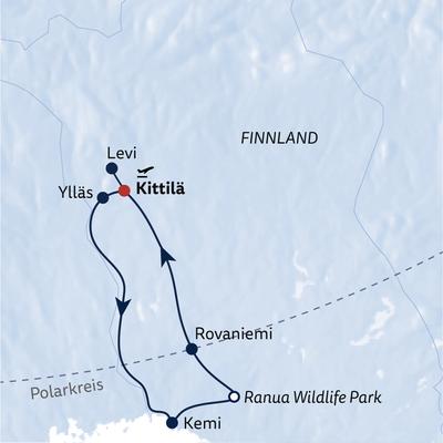 Busreise Finnisches Winterwunderland