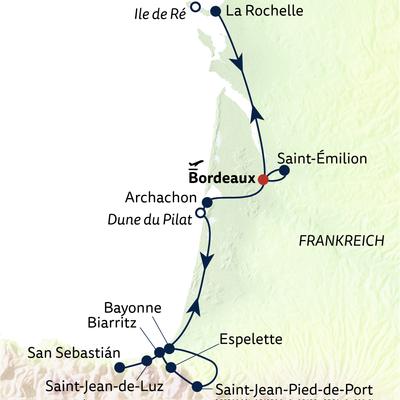 Autoreise Malerische Atlantikküste mit Baskenland