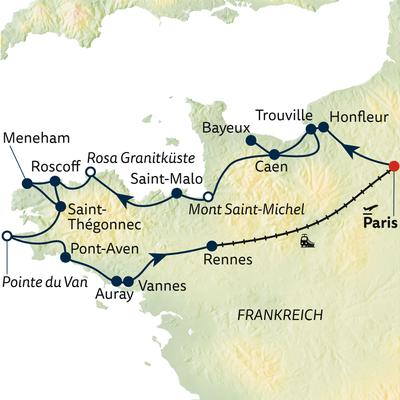 Busreise Normandie & Bretagne zum Kennenlernen