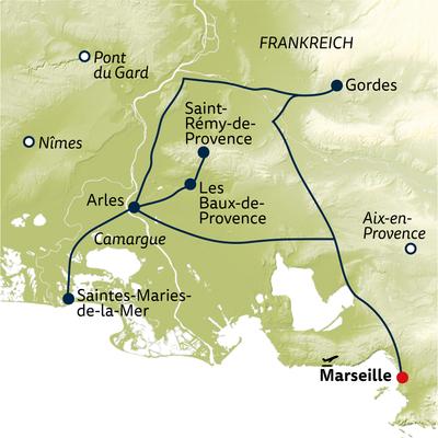 Standortreise Von Arles in die Provence