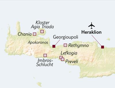 Wanderreise Wanderparadies Kreta