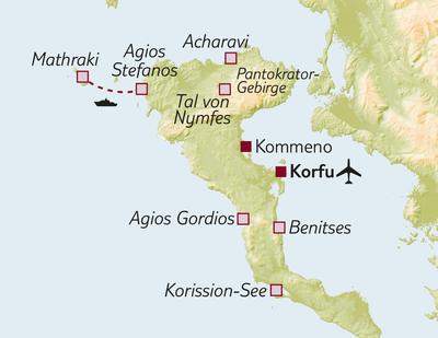 Bus-/Wanderreise Korfu aktiv erleben