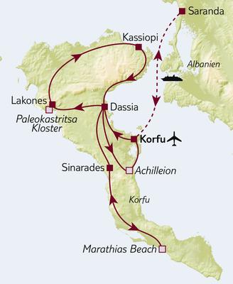 Standortreise Korfu – die grüne Insel kennenlernen