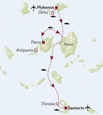 Standortreise - Inselhüpfen auf den Kykladen 3-Sterne-Variante