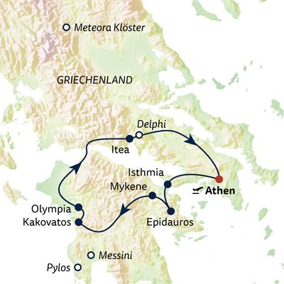 Busreise Griechenland zum Kennenlernen