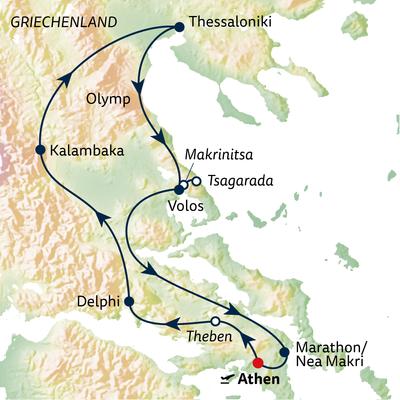 Autoreise Von Athen bis Thessaloniki