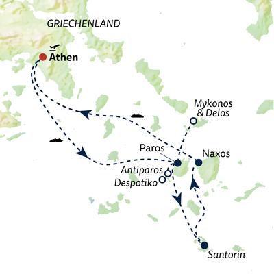 Busreise Kykladen - Inseln des Lichts