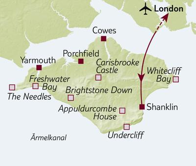 Bus-/Wanderreise Wandern auf der Isle of Wight