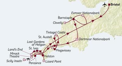 Autoreise Scilly Inseln & Cornwall – Tour B