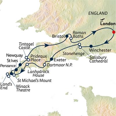 Busreise Devon & Cornwall