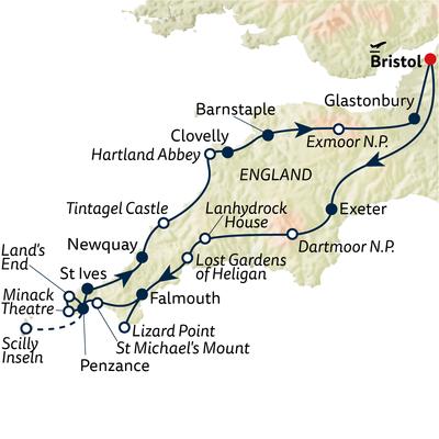 Autoreise Cornwall intensiv