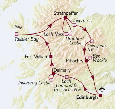 Bus-/Wanderreise Wanderrundreise Schottland