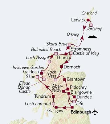 TUI Tours: Busreise Große Schottlandreise