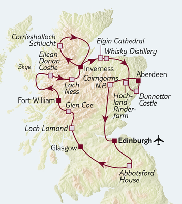 TUI Tours: Busreise Schottland Highlights
