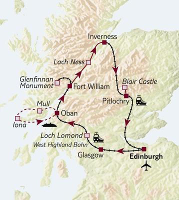 Bahnreise Mit dem Zug durch Schottland