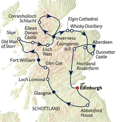 Busreise Schottland Highlights