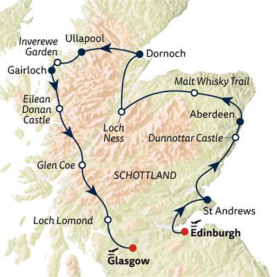 Busreise Schottland kompakt