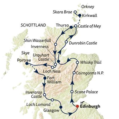 Busreise Von Edinburgh bis Orkney