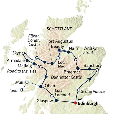 Autoreise Best of Scotland