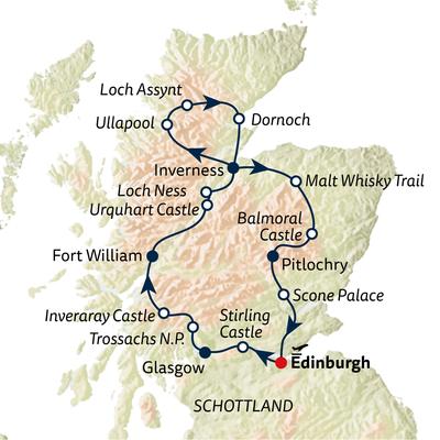 Autoreise Schottland Panorama