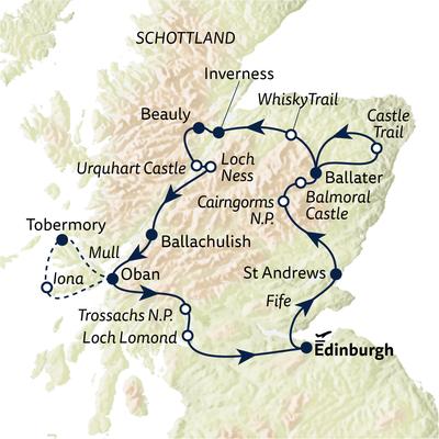 Autoreise Schottland entspannt genießen
