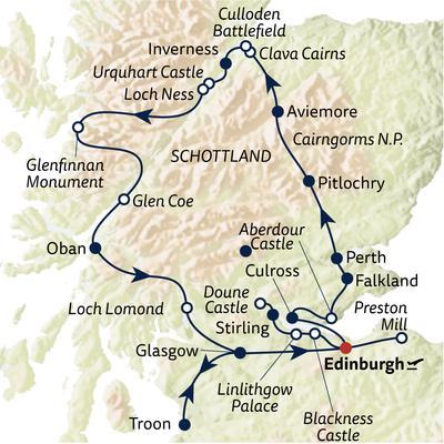 Autoreise Auf den Spuren der Highland-Saga