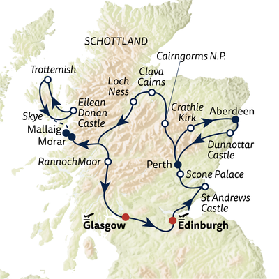 Busreise Schottlands Natur erleben