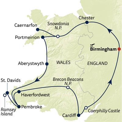 Autoreise Wales zum Kennenlernen