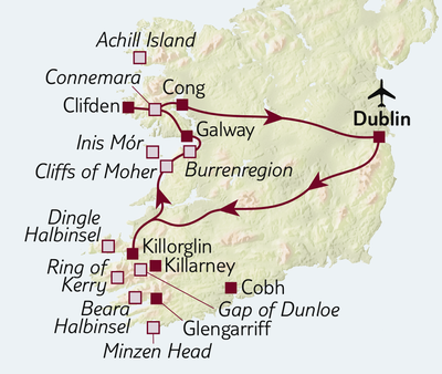 Autoreise Ferienhaus-Urlaub in Irland