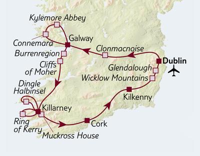 Autoreise Irland entdecken - Mix-Unterkünfte
