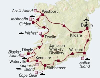 Autoreise Irlands Inseln