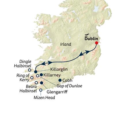 Autoreise Ferienhaus-Urlaub in Kerry