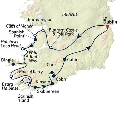 Busreise Wild Atlantic Way & Südküste