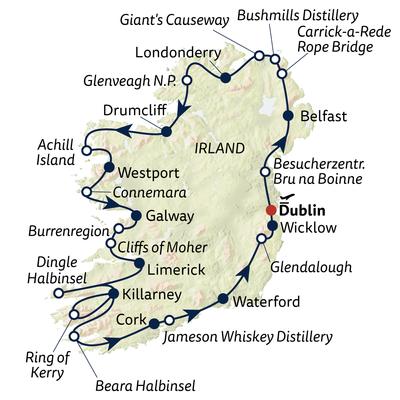 Autoreise Grand Tour of Ireland - Mix-Unterkünfte