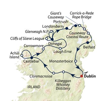 Autoreise Irlands Naturgiganten