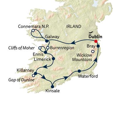 Auto-/Wanderreise Irland erwandern