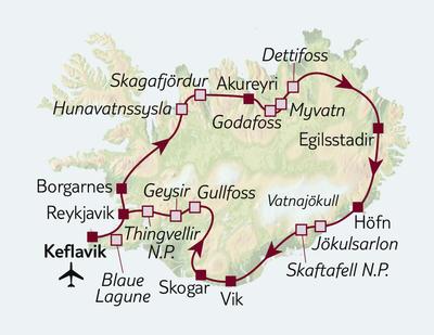TUI Tours: Busreise Ring der Naturschönheiten