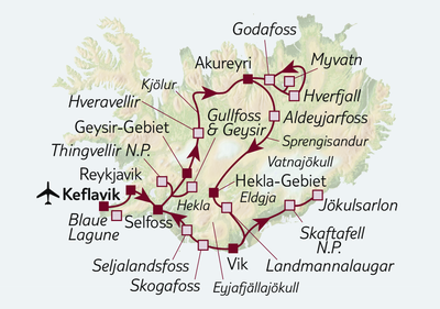 Autoreise Hochlandpiste, Lavafelder & Vulkane