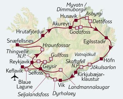 Busreise Klassisches Island