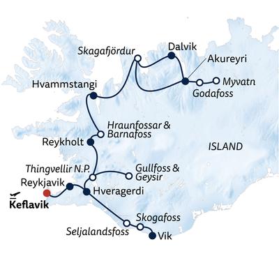 Busreise Naturschauspiele in Islands Norden