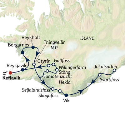 Busreise Best of Iceland